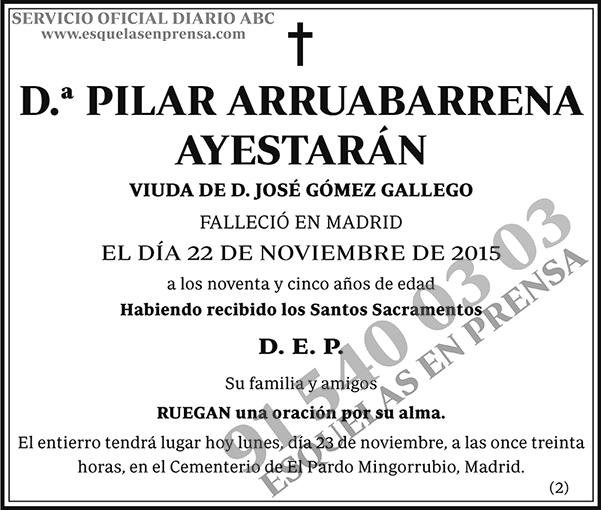Pilar Arruabarrena Ayestarán